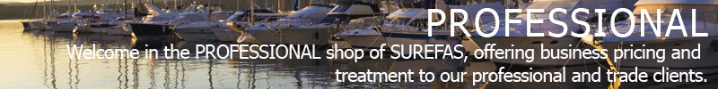 1 - Welcome in the PROFESSIONAL shop of SUREFAS, offering business pricing and treatment to our professional and trade clients.